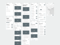 Travel app wireframes