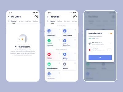 Favorite Locks lock security white minimal iphone ui ios clean app