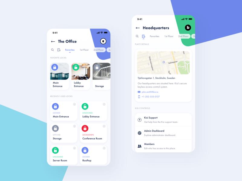 Locks & Place Information uidesign security design interface iphone minimal ios ui clean