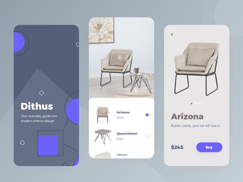 Interior App UI apartment home interior android design minimal ios ui clean app