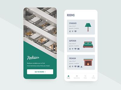 Hotel App vector flat interface minimal android ios ui clean app