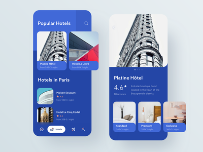 Travel App #2 design travel light interface iphone hotel android ios ui clean app