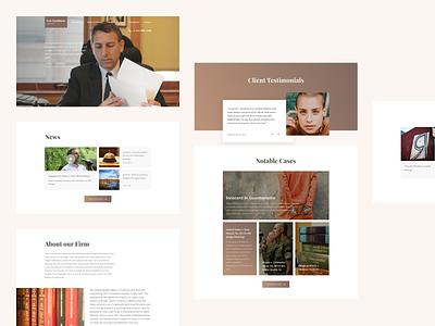 Len Goodman Website illustration interface personal law attorney minimal clean webdesign web