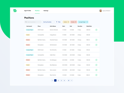 Resource Planning App dashboard erp mobile interface web minimal clean app