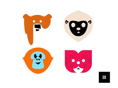 Animal Logos No. 3 appicons icons whatsnew cleanlogos simplelogos modernlogos minimallogos applogos marks symbols emblems favicons redpandalogos bearlogos monkeylogos lemurlogos animals logos animallogos