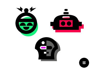 Robot Logos No. 5 symbols appicons brandlogos robotlogos applogos favicons icons emblems logos cleanlogos whatsnew modernlogos simplelogos minimallogos