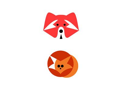 Animal Logos No. 5 colors foxes foxlogos redpandalogos redpandas animallogos animals appicons applogos symbols icons favicons emblems whatsnew cleanlogos modernlogos simplelogos minimallogos logos