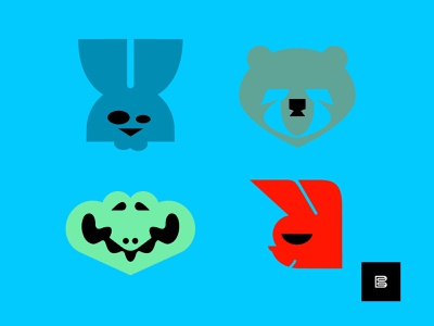 Animal Logos No. 8 colors crocodilelogos bearlogos rabbitlogos animallogos animals symbols cleanlogos icons favicons emblems whatsnew modernlogos simplelogos minimallogos logos