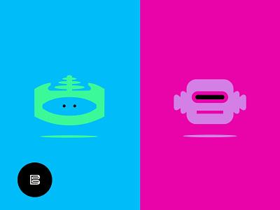 Robot Logos No. 7 robotics applogos appicons marks robot robots robotlogos symbols icons favicons emblems whatsnew modernlogos cleanlogos logos minimallogos simplelogos