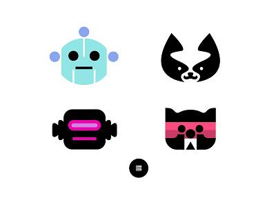 Animal and Robot Logos No. 2 robots robot animal animals appicons applogos robotlogos redpandalogos catlogos animallogos symbols icons favicons emblems whatsnew modernlogos cleanlogos simplelogos minimallogos logos