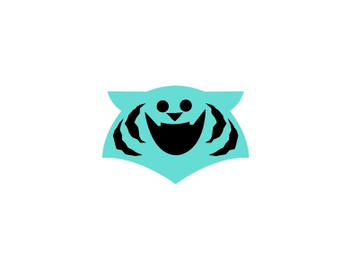 Blue Tiger animallogos animals animal tigerlogos tiger tigers appicons applogos symbols icons emblems whatsnew modernlogos cleanlogos simplelogos minimallogos logos