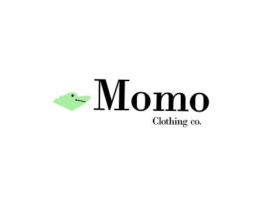 Momo Clothing Co. symbols icons companynames logosandcompanynames mascots mascotlogos marks animallogos animals alligator alligators alligatorlogos emblems whatsnew modernlogos cleanlogos simplelogos minimallogos logos