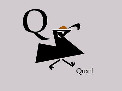 Letters of the Alphabet - Q mammals quaillogos quail appicons applogos icons marks symbols animallogos animals animal birdlogos birds bird whatsnew modernlogos cleanlogos simplelogos minimallogos logos