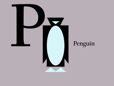 Letters of the Alphabet - P birds birdlogos bird alphabet penguinlogos penguins penguin animal animallogos animals icons marks applogos emblems whatsnew modernlogos cleanlogos simplelogos minimallogos logos