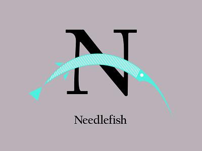 Letters of the Alphabet - N alphabet icons symbols marks appicons applogos needlefish fishlogos fish animal animallogos animals emblems whatsnew modernlogos cleanlogos simplelogos minimallogos logos