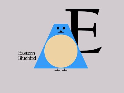 Letters of the Alphabet - E symbols marks favicons icons applogos animallogos animals animal bluebird birdlogos birds bird alphabet emblems whatsnew modernlogos cleanlogos simplelogos minimallogos logos