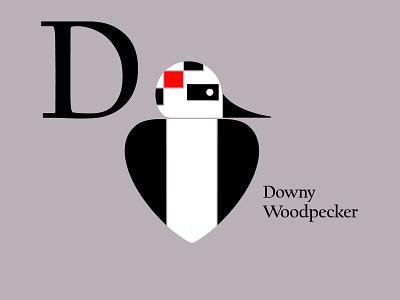 Letters of the Alphabet - D appicons applogos symbols marks downywoodpecker woodpeckerlogos woodpecker birdlogos bird birds animal animallogos animals emblems whatsnew modernlogos cleanlogos simplelogos minimallogos logos