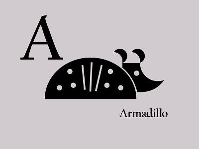 Letters of the Alphabet - A appicons applogos marks icons favicons symbols animallogos animals animal armadillologos armadillo alphabet emblems whatsnew modernlogos cleanlogos simplelogos minimallogos logos