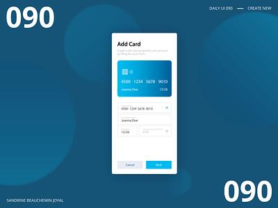 Daily UI 090 - Create New create new add card adobe daily ui challenge daily ui 100 design ui daily ui