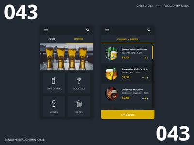 Daily UI 043 - Food/Drink Menu