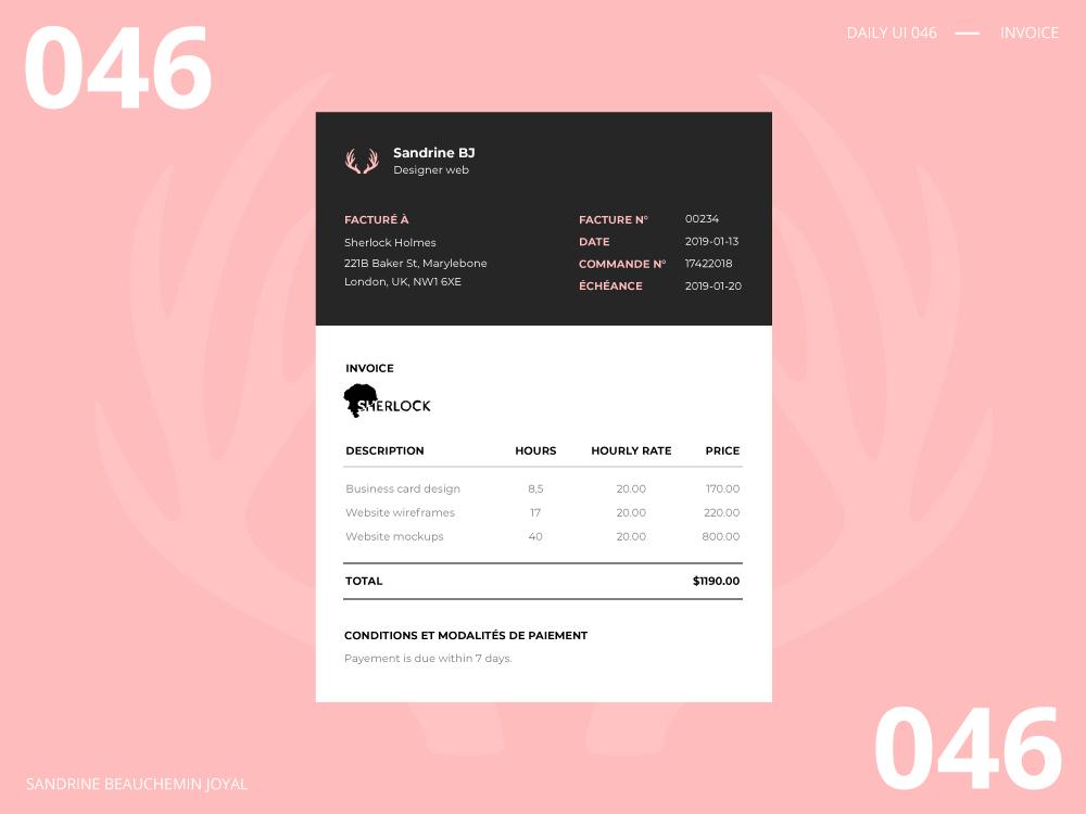 Daily UI 046 - Invoice invoice design vector illustration dailyui ui daily ui daily ui 046