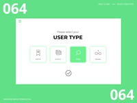 Daily UI 064 - Select User Type