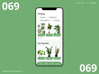 Daily UI 069 - Trending rounded corners trending green plants ui dailyui daily ui daily ui 069
