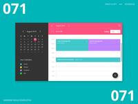Daily UI 071 - Schedule