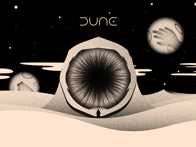 Vectober 13 - Dune planet space worm textures brush inktober2020 dune vectober inktober light texture black white colors illustration flat vector illustrator 2d