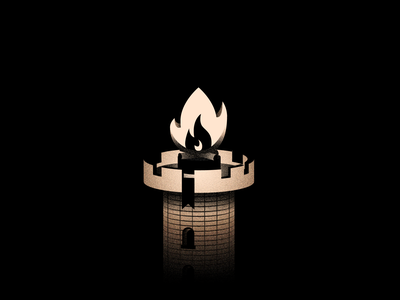 Vectober 15 - Outpost lighthouse outpost tower fire vectober inktober textures texture light black white color colors illustration flat design vector 2d illustrator