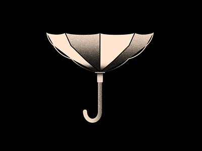 Vectober 17 - Storm vectober inktober storm umbrella textured textures texture light black white color colors illustration flat vector 2d illustrator