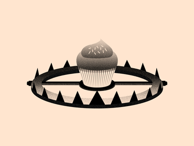 Vectober 18 - Trap grey cupcake trape cake league of legends leagueoflegends vektober inktober textures texture light black white color colors flat vector 2d illustrator
