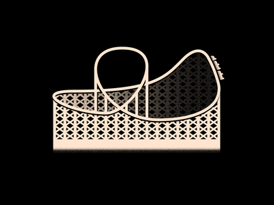 Vectober 19 - Dizzy inktober2020 vectober inktober dizzy roller coaster textures texture light logo black white color colors illustration flat 2d vector illustrator