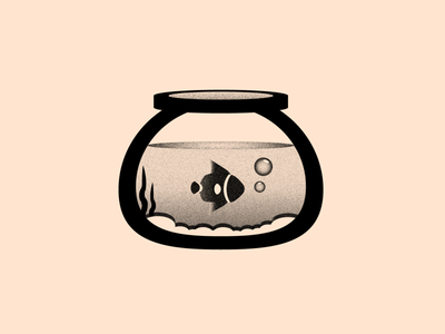 Vectober 25 - Buddy grain textures texture aquarium fish buddy vectober inktober black white color colors design flat 2d illustration vector illustrator