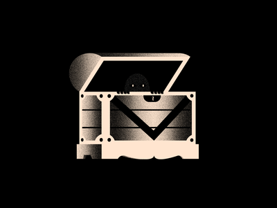Vectober 26 - Hide inktober2020 eyes shadow hide chest spooky vectober inktober texture black white color colors illustration flat vector 2d illustrator