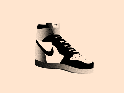 Vectober 29 - Shoes textured brush textures nike jordan shoes inktober2020 vectober inktober texture color black white colors illustration flat vector 2d illustrator