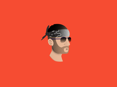 Tony Corleone - LeanBois illustrator vector 2d flat vector illustration bandana texture vectors portrait twitch tony corleone gtarp red design graphic design leanbois minimal