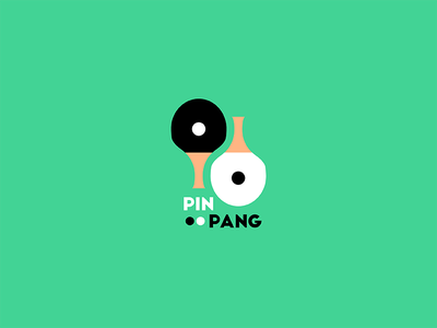 Pin Pang yinyang white black color illustrator graphic design vector 2d logo branding flat design