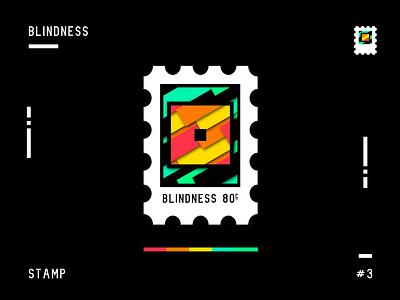 Blindness - Stamp Collection #3 white black stamp universe design flat 2d vector graphic design illustrator colors