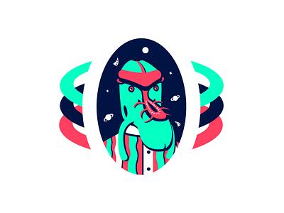 Xarlax - Alien from Nexus VI alien pink blue color white illustration colors flat vector illustrator graphic design design 2d