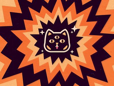 3 eyes, 9 lives - Paper Cutout Cat cutouts weeklywarmup weekly textures paper eyes cutout cat logo color colors illustration flat vector illustrator graphic design design 2d