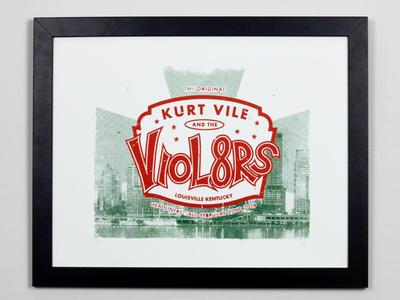 Kurt Vile Screen Printed Poster