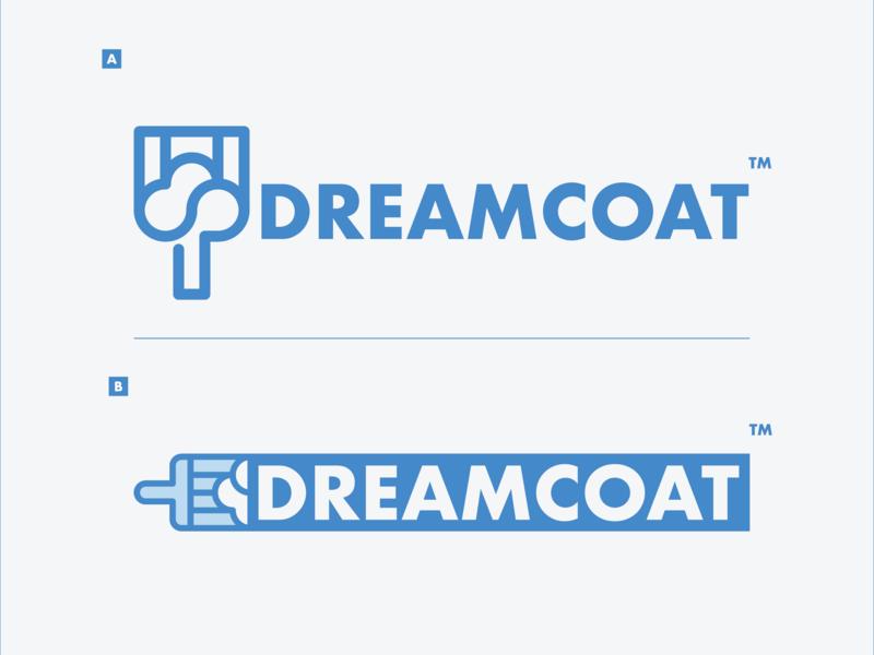 Dreamcoat blue cloud cloud logo brush logo brush wordmark logo paint futura typography branding vector ui freelance illustration cincinnati