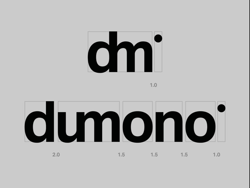 dumono graphic studio brand word sans serif black d logo dm logo type wordmark logo branding
