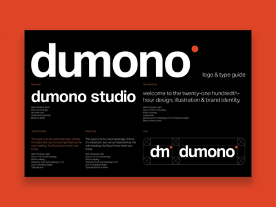 Dumono Logo & Type Guide