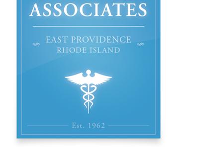 Associates blue banner logo pediatrician medicine