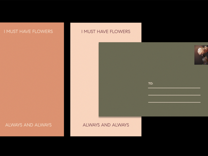 I Must Have Flowers.. layout branding graphic design design