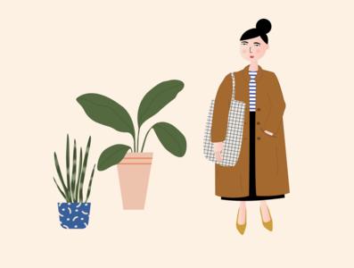 Girl & plants