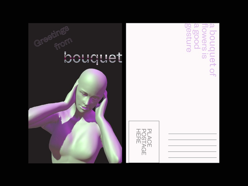 bouquet postcard 01 postcard founders grotesk whyte inktrap inktrap typography graphic design