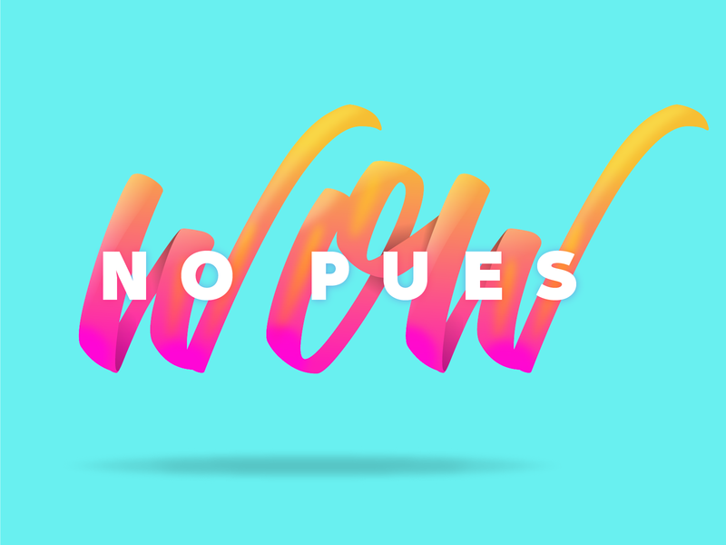 WOW gradation color typography type
